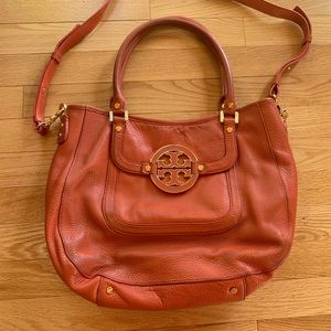 Tory Burch orange leather bag